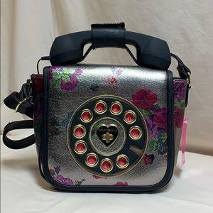 """NWT Betsey Johnson """"Hello"""" Rotary Phone Purse"""